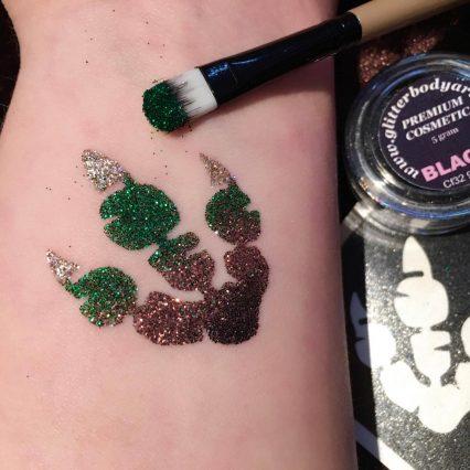 dinosaur footprint temporary tattoos for boys, dinosaur glitter tattoo