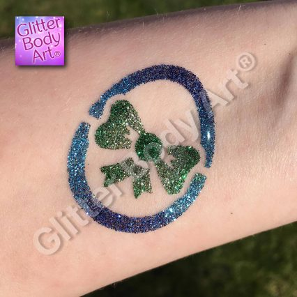 easter egg temporary tattoo stencil with bow for easter glitter tattoos