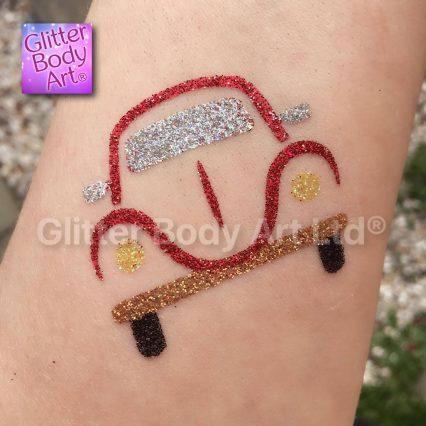 vw car temporary tattoo stencil, VW glitter tattoo