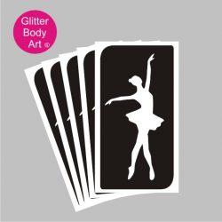 Ballet dancer - ballerina temporary tattoo stencil, ballet school stencils