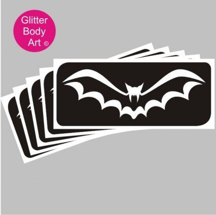 halloween bat temporary tattoo stencil