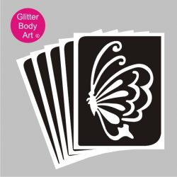 pretty side view of butterfly flying temporary tattoos uk