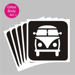 VW Campervan stencil for temporary tattoos, Vdub events logo