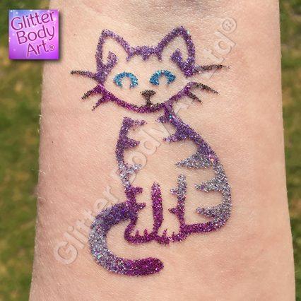 pussy cat temporary tattoo stencil