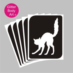 halloween scary cat temporary tattoo stencil