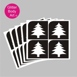 mini christmas tree stencils for temporary tattoos and crafts