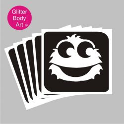honey monster temporary tattoos, sesame street stencils
