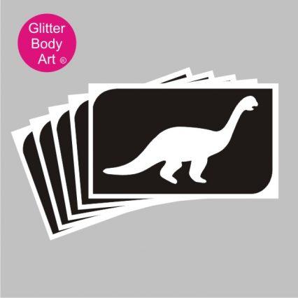 Brachiosaurus dinosaur temporary tattoo stencils