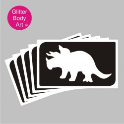 Triceratops dinsosaur temporary tattoo stencil for dinosaur party
