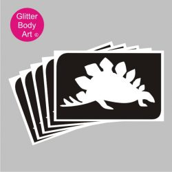 Stegosaurus dinosaur temporary tattoo stencil in packs of 5 self adhesive stencils