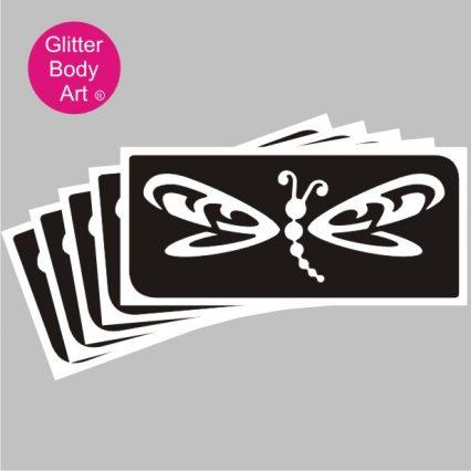 pretty dragonfly temporary tattoo stencil