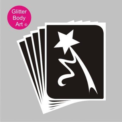 fairy wand temporary tattoo for fairy party glitter tattoos