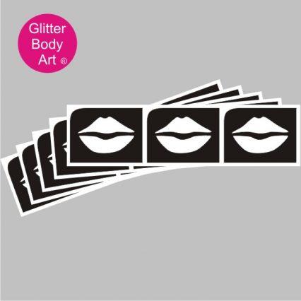 mini lips temporary tattoo stencils, hen party lips, bachelorette stencils