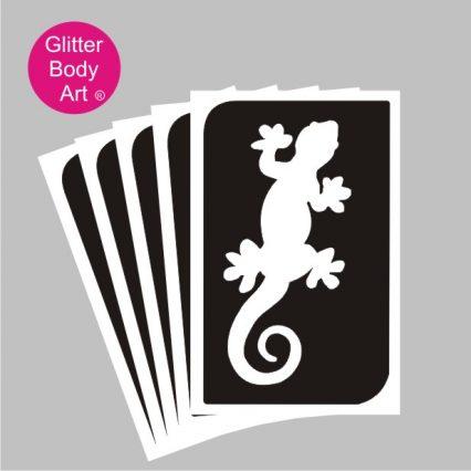 lizard stencil, gecko temporary tattoo stencil