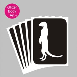 Meerkat Temporary tattoos stencil
