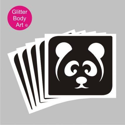 Panda temporary tattoo stencil, kung fu panda tattoo
