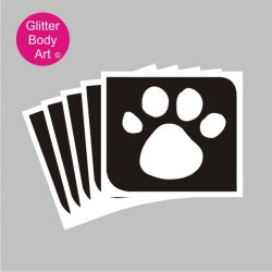 paw print temporary tattoo stencil