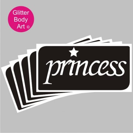 princess temporary tattoo stencil with a star temporary tattoo