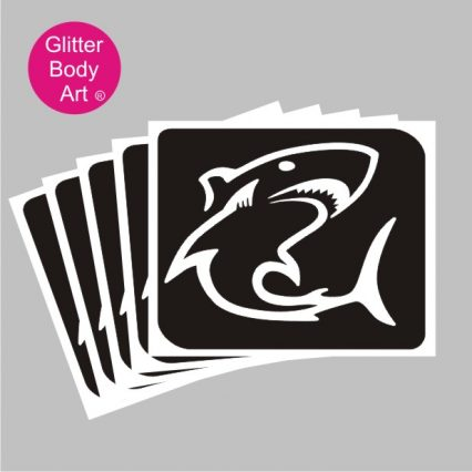 shark temporary tattoo stencil