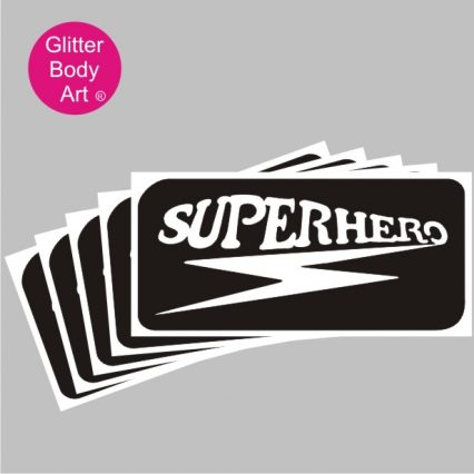 superhero temporary tattoo stencil