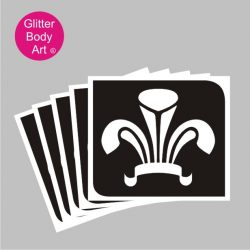 Wales three feathers temporary tattoo stencil