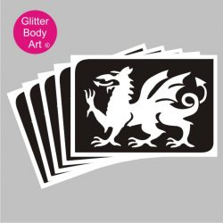 welsh dragon temporary tattoo stencil