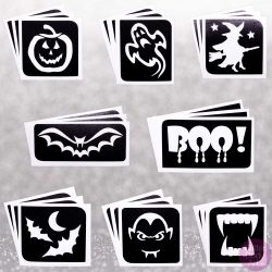 Halloween Stencils, Halloween Body Tattoos, Halloween Packs of tattoos