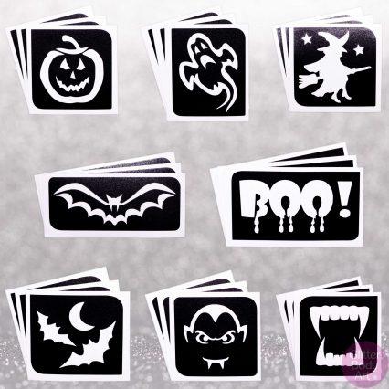 Halloween Stencils, Halloween Body Tattoos, Halloween Packs of tattoos