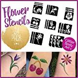 flower temporary tattoos