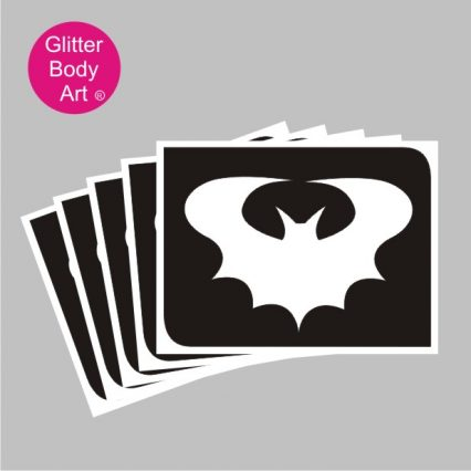 flying bat stencil, batman temporary tattoo stencil