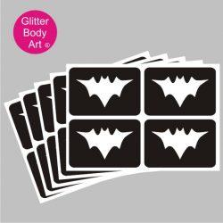 mini bat temporary tattoo stencils, pack of 5 stencils