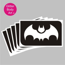flying bat temporary tattoo stencil