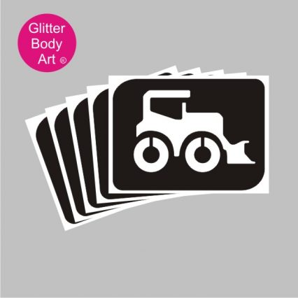 JCB Digger temporary tattoo stencil