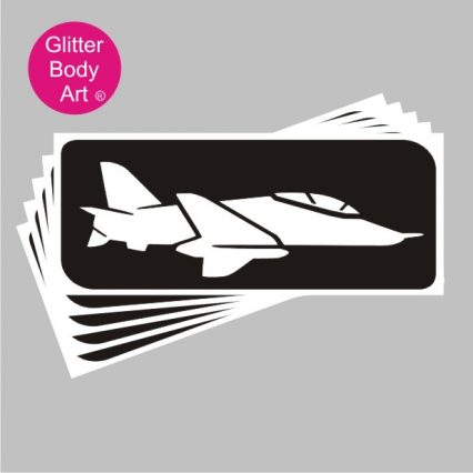RAF fighter jet plane temporary tattoos, self adhesive stencils, for airshows