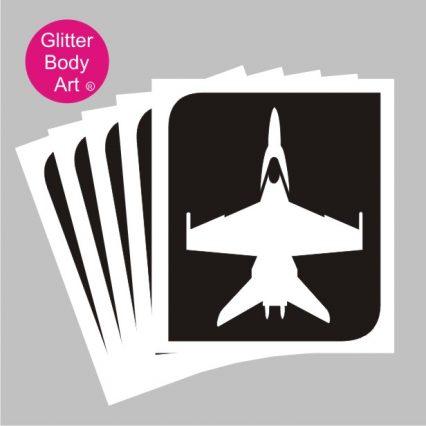 RAF fighter jet temporary tattoo stencil, air show stencils