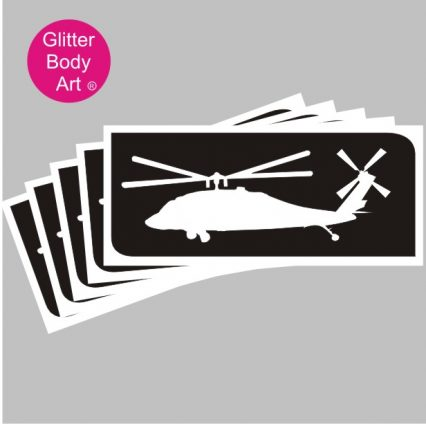 RAF helicopter temporary tattoo stencil, airshow tattoos
