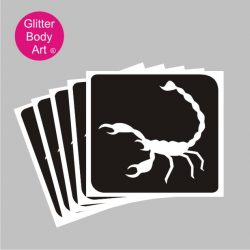 scorpion temporary tattoo stencil