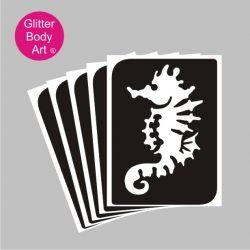 seahorse temporary tattoo stencil, under the sea ideas