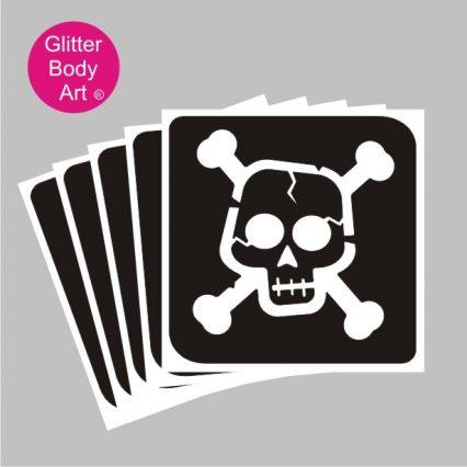 pirates skull and crossbones temporary tattoos stencils