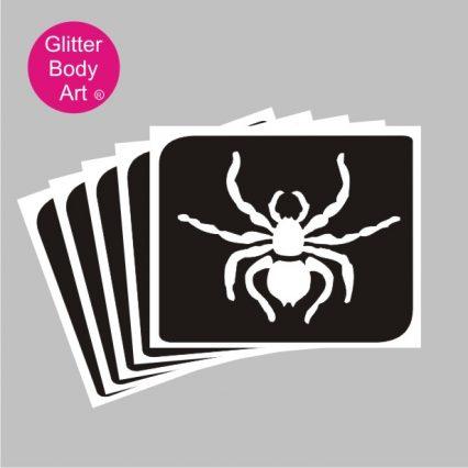 spider glitter tattoo stencil