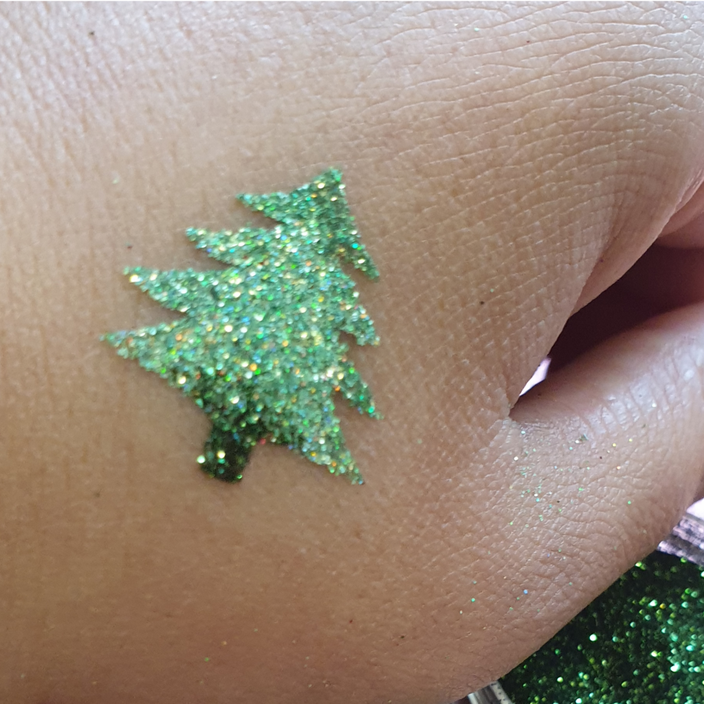 Christmas tree stencil, christmas glitter tattoo, chirstmas temporary tattoo
