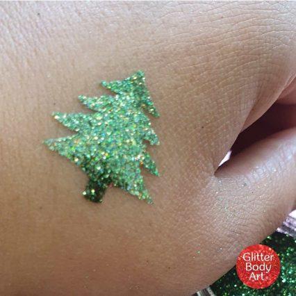 mini christmas tree temporary tattoo stencil, festive stencils