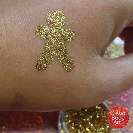 gingerbread man temporary tattoo stencil, christmas glitter tattoo stencil templates