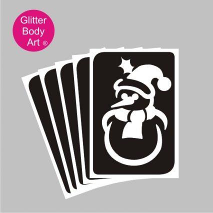 snowman glitter tattoo stencil template