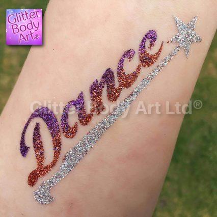 Dance temporary tattoo stencil