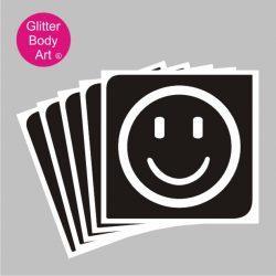 smiling emoji temporary tattoo stencil