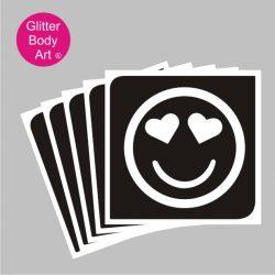 smiler emoji temporary tattoo stencil