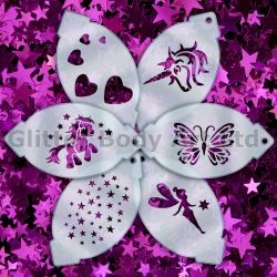 girls face paint stencils, birthday party stencil templates