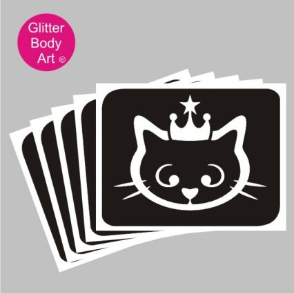 hello kitty with crown temporary tattoo stencil, princess hello kitty/cat temporary tattoos
