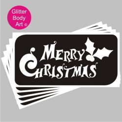 merry christmas word art stencil for tattoos and arts